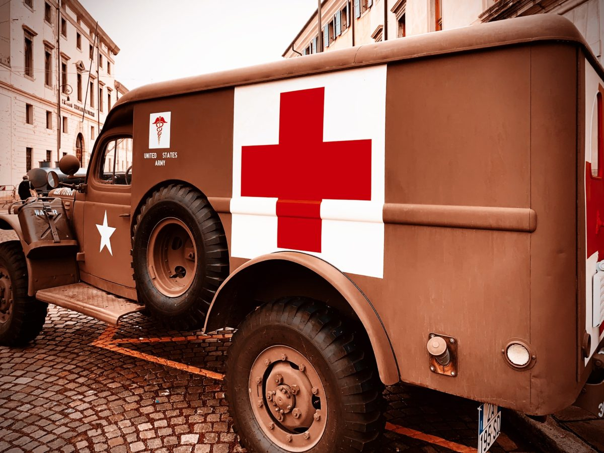 An American Red Cross ambulance from second world war